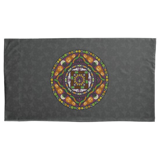 Tricks and Treats Mandala Pillowcase