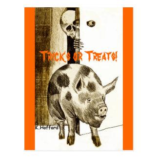 Tricks or Treats! Postcard