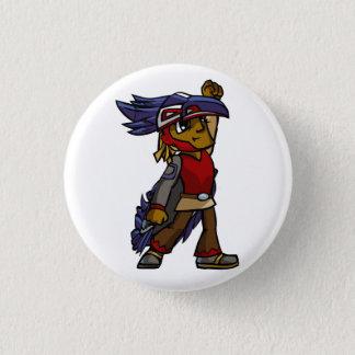 Trickster Raven Button