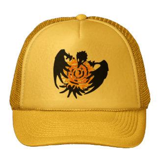 Trickster Raven With Spiral Sun Trucker Hat