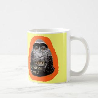 Tricky Monkey Halloween Mug