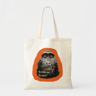 Tricky Monkey Halloween Tote Bag