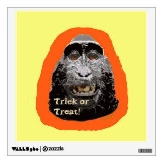 Tricky Monkey Halloween Wall Decal