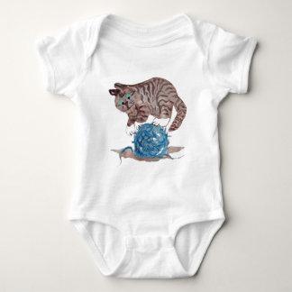 Tricky to Balance on a  Yarn Ball Baby Bodysuit