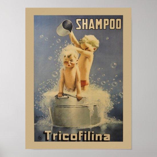 TricoFilina Shampoo Vintage Poster