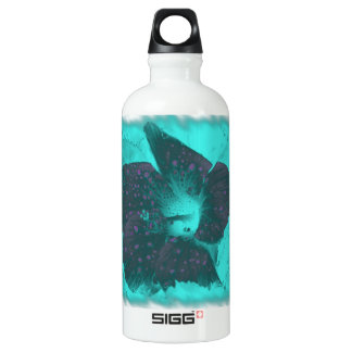 Tricolor Abstract Hibiscus 3 Aluminum Water Bottle