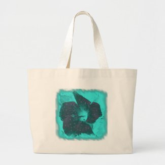 Tricolor Abstract Hibiscus zazzle_bag