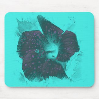 Tricolor Abstract Hibiscus zazzle_mousepad