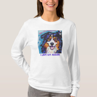 Tricolor Australian Shepherd Pop Art T Shirt