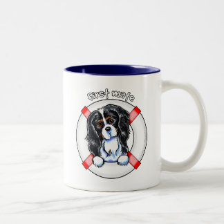 Tricolor Cavalier CKCS First Mate Two-Tone Coffee Mug