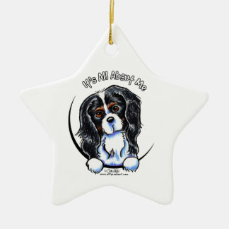 Tricolor Cavalier CKCS IAAM Ceramic Ornament