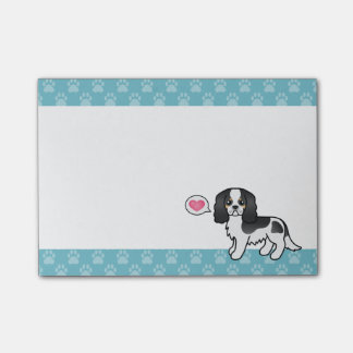 Tricolor Cavalier King Charles Spaniel Love Post-it Notes