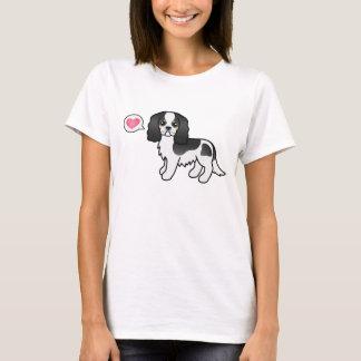 Tricolor Cavalier King Charles Spaniel Love T-Shirt