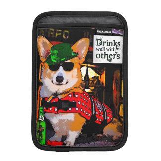 Tricolor Corgi in a Bar Sleeve For iPad Mini