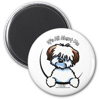 Tricolor Coton Its All About Me 2 Inch Round Magnet