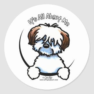 Tricolor Coton Its All About Me Classic Round Sticker