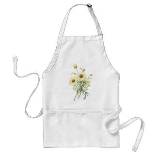tricolor daisy(Chrysanthemum carinatum) by Redouté Adult Apron