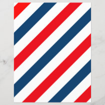 Tricolor Diagonal Stripes(blue, white, and red)
