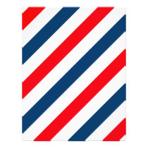 Tricolor Diagonal Stripes(blue, white, and red) Flyer