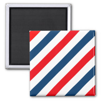 Tricolor Diagonal Stripes(blue, white, and red) Magnet