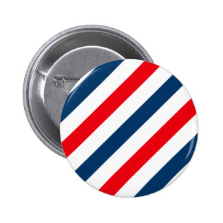 Tricolor Diagonal Stripes(blue, white, and red) Pinback Button