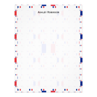 Tricolor France Flag in Multiple Colorful Layers 2 Personalized Letterhead