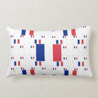 Tricolor France Flag in Multiple Colorful Layers 2 Pillow