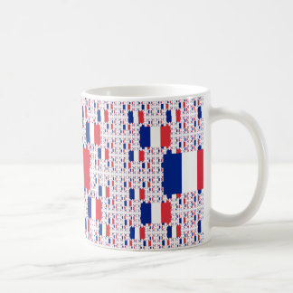 Tricolor France Flag in Multiple Colorful Layers Coffee Mug