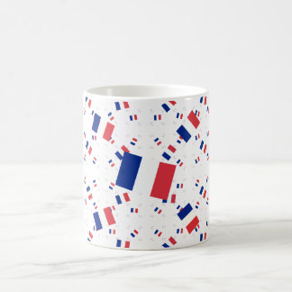 Tricolor France Flag in Multiple Layers Askew Coffee Mug