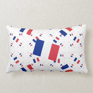Tricolor France Flag in Multiple Layers Askew Throw Pillows