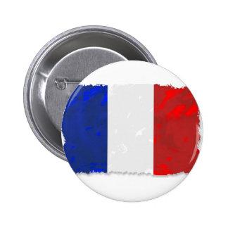 Tricolor francés pin redondo de 2 pulgadas