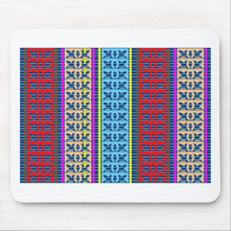 Tricolor Geometrical Line Art Gifts Jewel Pattern Mouse Pad