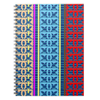 Tricolor Geometrical Line Art Gifts Jewel Pattern Spiral Notebook
