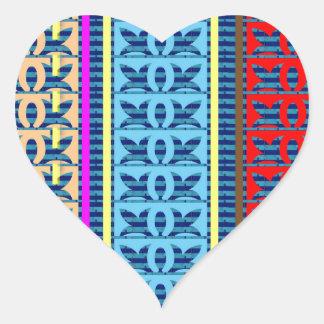 Tricolor Geometrical Line Art Gifts Jewel Pattern Stickers