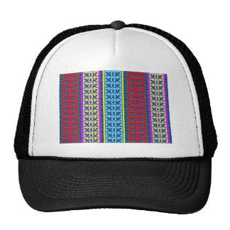 Tricolor Geometrical Line Art Gifts Jewel Pattern Trucker Hat