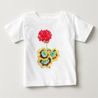 Tricolor-Leaved Pelargonium, Meteor Baby T-Shirt