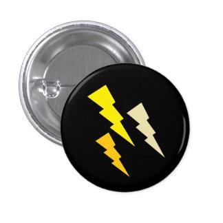Tricolor Lightning Bolt Pinback Button