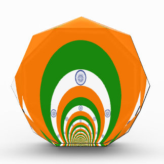 Tricolor of  a very deep saffron, white GREEN Award