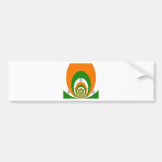 Tricolor of  a very deep saffron, white GREEN Bumper Sticker
