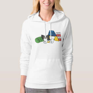 Tricolor Papillon Agility Dog Hoodie