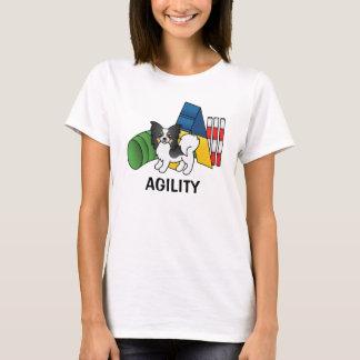 Tricolor Papillon Agility Dog T-Shirt