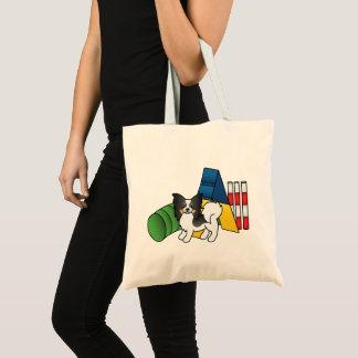 Tricolor Papillon Agility Dog Tote Bag