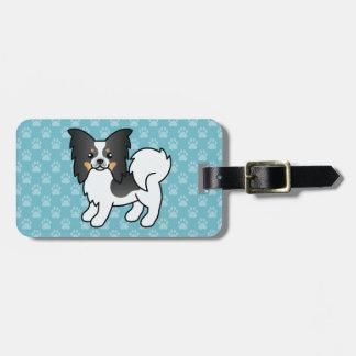 Tricolor Papillon Breed Cartoon Dog Bag Tag