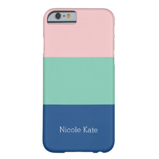 Tricolor phone, blue - green - rose barely there iPhone 6 case