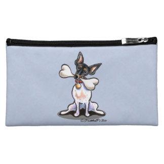 Tricolor Rat Terrier Big Bone Cosmetic Bag