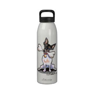 Tricolor Rat Terrier Big Bone Drinking Bottle