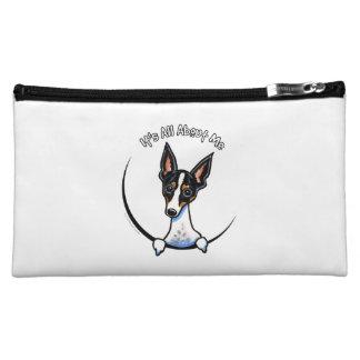 Tricolor Rat Terrier IAAM Cosmetics Bags
