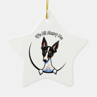 Tricolor Rat Terrier IAAM Ceramic Ornament
