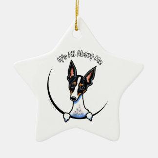 Tricolor Rat Terrier IAAM Christmas Tree Ornament