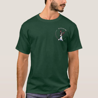 Tricolor Rat Terrier IAAM Pocket T-Shirt